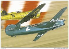 Caudron C.561 races a Hughes H1 from 'Beyond the Clouds' #1 graphic novel