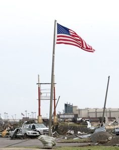 """""""And our flag was still there!""""    After the recent tornado in Oklahoma."""