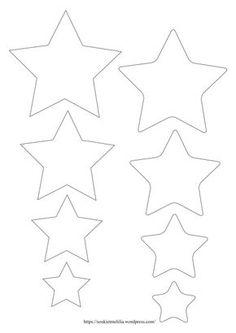 dessin imprimer une toile 5 branches tatoo pinterest star template templates et. Black Bedroom Furniture Sets. Home Design Ideas