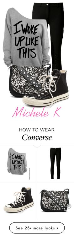 """""""Untitled #1028"""" by mkomorowski on Polyvore featuring Michael Kors, MICHAEL Michael Kors and Converse"""