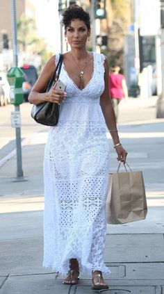Nicole Murphy in White Dress -08