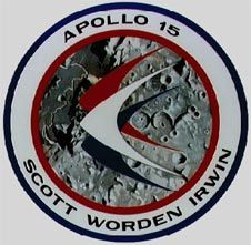 "Apollo 15 patch - ""Climb aboard the Lunar Rover"" - was the first of the Apollo ""J"" missions capable of a longer stay time on the moon.  Astronauts David R. Scott, James B. Irwin, and Alfred M. Worden launched on July 26, 1971"