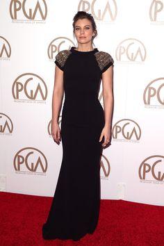 Lauren Cohan Evening Dress - Lauren Cohan Looks - StyleBistro