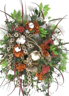 Country Wreath for Front Door, Fall Sunflower Wreath, Outdoor Fall Wreath, Farmhouse Wreath Fall, White Pumpkin Wreath Pumpkin Wreath, Wreath Fall, Autumn Wreaths, Outdoor Fall Wreaths, Different Types Of Grass, Natural Sponge, Country Wreaths, Green Tips, Grazing Tables