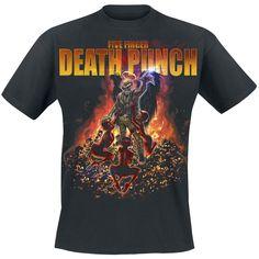 Band Merchandise Archangel - Camiseta por Five Finger Death Punch - $19.99 € en EMP...  la mayor tienda online de Europa de Merchandising oficial de bandas de Metal, Hard Rock , Heavy, Ropa Gótica , Punk y todo lo que te hace falta para vivir el Rockstyle en toda su dimensión. EMP Rock Mailorder España