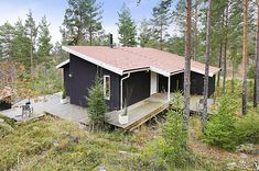 Architect-designed holiday home in Burvik, Sweden Modern Cottage, Swedish House, Six Pack Abs, Stockholm, Barn, House Styles, Inspiration, Cabins, Cottages