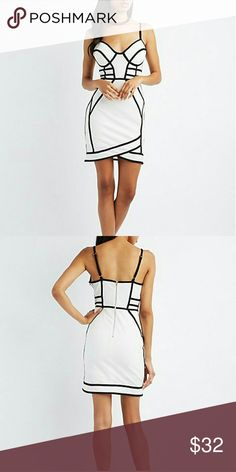 Corset bandage dress Beautiful corset bondage dress that comes with extra lining that it's 100% polyester dress shell is 95% polyester 5% spandex this dress has a great stretch don't miss out this one ladies bundle two items and receive a discount Dresses