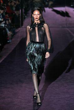And now the feather skirt! Gucci RTW Fall 2012 - Milan Photo: Piero Cristaldi