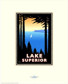 Landmark Series  Lake Superior North Shore MN by by NumericPress