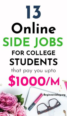 13 proven way to earn money online without investment for student to add some extra cash in your wallet. Make Easy Money Online, Earn Money Online, Make More Money, Make Money Blogging, Extra Money, Big Money, Online Side Jobs, Best Online Jobs, Make Money From Pinterest