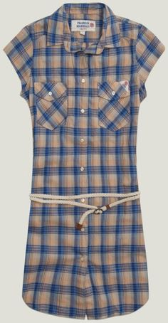 Shirt #dress with waist belt and breast pockets #franklinandmarshall #SS13