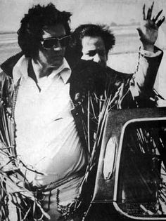 """Elvis exiting the famous black known as the """"Big Bunny"""" owned by Playboy founder Hugh Hefner. Elvis leased it and used it to fly into several cities in and Elvis Presley Priscilla, Elvis Presley Images, Elvis Presley Family, Lisa Marie Presley, Elvis Quotes, Elvis Collectors, Famous Black, Famous Men, Famous People"""