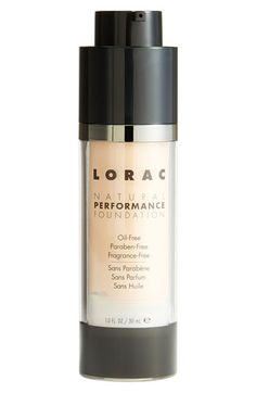 LORAC 'Natural Performance' Foundation available at #Nordstrom - fragrance free