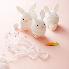 Modern Easter Egg Crafts: Fuzzy Bunnies (via Parents.com)