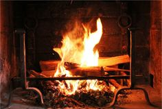 Feu de bois cheminée