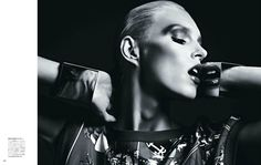 Ecstasy of the Moment | Anja Rubik | Hedi Slimane #photography | Vogue Japan March 2012