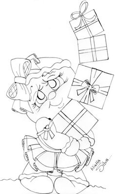Painting Templates, Painting Patterns, Fabric Painting, Christmas Coloring Pages, Coloring Book Pages, Christmas Colors, Christmas Art, Illustration Noel, Illustrations