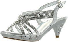 Fabulous Kids Teresa 86K Little Girls Rhinestone Pageant Heels -- Check out this great image  : Girls sandals