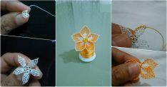 Çiçek Boncuklu Oya Yapımı