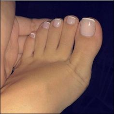 17 Ideas french pedicure designs toenails pretty toes for 2019 Pretty Toe Nails, Pretty Toes, Beautiful Toes, Cute Toe Nails, Simple Toe Nails, Pretty Pedicures, Nice Toes, Nude Nails, My Nails