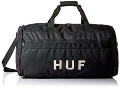 HUF Mens Travel Duffle Bag Black One Size *** See this great product. Note:It is Affiliate Link to Amazon.