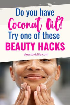 Try one of these 13 beauty hacks with coconut oil. skin moisturizer, white teeth, deep conditioning your hair, natural m Coconut Oil Massage, Coconut Oil Body Scrub, Best Coconut Oil, Coconut Oil For Skin, Teeth Whitening Bleach, Bleach Teeth, Bleach Hair, Beauty Hacks With Coconut Oil, Natural Makeup Remover