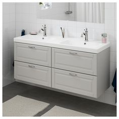 GODMORGON / ODENSVIK sink cabinet with 4 drawers IKEA guarantee. For more information about the conditions, see the Limited Warranty booklet. Bathroom Wall Cabinets, Bathroom Furniture, Bathroom Storage, Home Furniture, Ikea Bathroom Vanity, Antique Furniture, Rustic Furniture, Modern Furniture, Bathroom Canisters