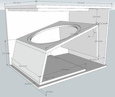 Resultado de imagen para plans box speaker Diy Subwoofer, Subwoofer Box Design, Speaker Box Design, Music Speakers, Diy Speakers, Speaker Plans, Car Audio Systems, Cabinet Plans, Loudspeaker