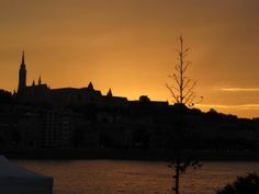 Budapest Sunset Skyline