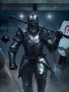 """The merciless Macdonald - Worthy to be a rebel, for to that The multiplying villainies of nature -"" This quote from Act 1 Scene 2 describes Macdonald. This image, while it portrays a Medieval knight, still represents what I think Macdonald may appear to many as; a fearless armored warrior who uses brutality, as shown by the spiked mace slung over this knight's shoulder."
