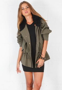 Click Image Above To Purchase: Light Anorak In Army - Designed By Smythe