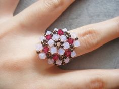 Rose Opal Ruby Flower Bronze Ring Tutorial
