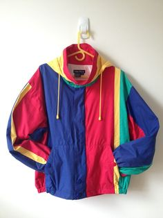 vintage nautica color block jacket with by vintspiration (Tech Style Long Sleeve) Fashion Guys, 80s Fashion, Vintage Fashion, Fashion Outfits, Celebrities Fashion, Petite Fashion, Curvy Fashion, Womens Fashion, Retro Outfits
