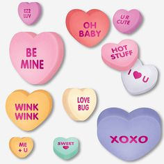 large conversation heart valentine cutouts orientaltradingcom already have these in closet - Party City Valentine Decorations