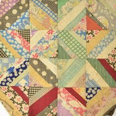 "This reminds me of Mamaw. She made quilts like this with a paper foundation and called them ""A poor mans quilt"""