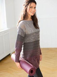 Джемпер с цветочным узором - схема спицами вязания. Вяжем Джемперы на Verena.ru