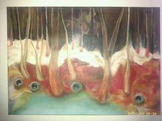 Hřebenatka, olej na plátně 50x70 cm.