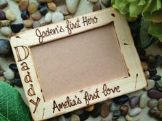 Gift for Dad Custom Personalized Wood Frame with by PrinceWhitaker, $22.99