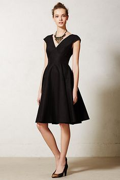 Minuet dress - Anthropologie - perfect little black dress for me. Pretty Outfits, Pretty Dresses, Unique Dresses, Dress Outfits, Dress Up, Chic Dress, Women's Dresses, Swing Dress, Dresses Online