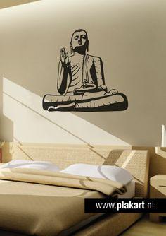 Ontwerp muursticker  muurtekst Buddha woonkamer  slaapkamer More