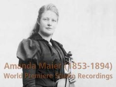 World-premiere recording of works by violinist Amanda Maier-Röntgen, 141 years later