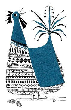 Bluebird Illustration by: Ylva Källström-Eklund
