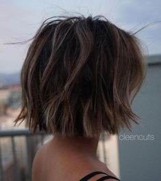 Jaw-Length Choppy Bob With Sun-Kissed Highlights