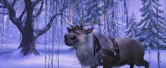 When Sven found some grass, even in winter.   27 Disney Cartoons Paused At Exactly The Right Moment