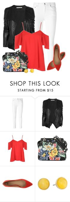"""""""#771 - Cold Shoulder Look for Spring"""" by lilmissmegan ❤ liked on Polyvore featuring McQ by Alexander McQueen, Willow, Fendi, Joe's Jeans, Kate Spade and outfitonly"""