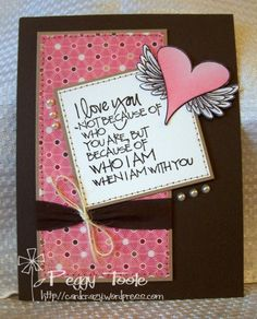 Card by Peggy Toole using Verve Stamps.  #vervestamps- like the twine bow on the ribbon!