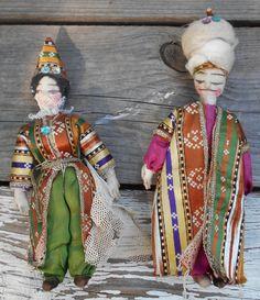 Antique 1950s Turkish Folklore Art Dolls Istanbul by TearDropCurio