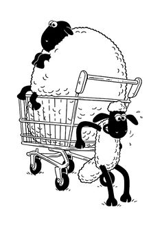 Shaun the sheep coloring pages for kids, printable free