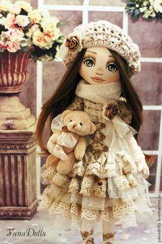 Коллекционные куклы ручной работы. Александра. YanaDolls. Интернет-магазин Ярмарка Мастеров. Кукла, кукла текстильная, хлопок, хлопок, батист Pretty Dolls, Soft Dolls, Doll Crafts, Doll Patterns, Doll Clothes, Disney Princess, Toys, Disney Characters, Fabric