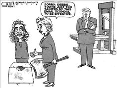 Debbie and Hillary tainted by email scandals, but only Debbie gets the axe |DEFEAT OBAMA TOONS